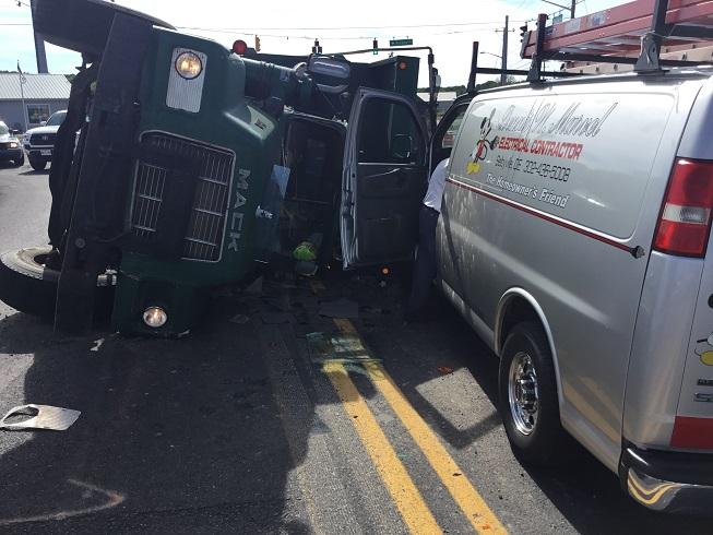 Overturned Dump Truck Millville 2