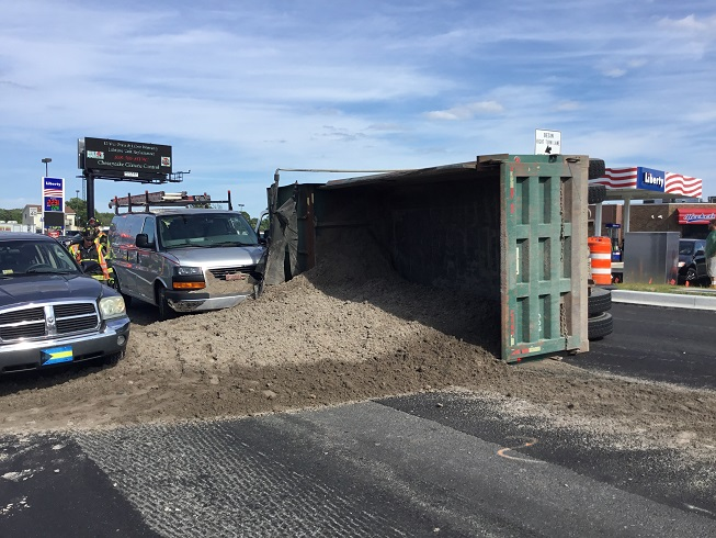 Overturned Dump Truck Millville