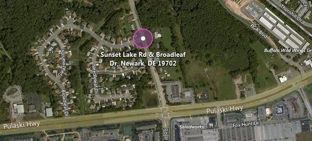 Sunset Lake Rd. at Broadleaf drive