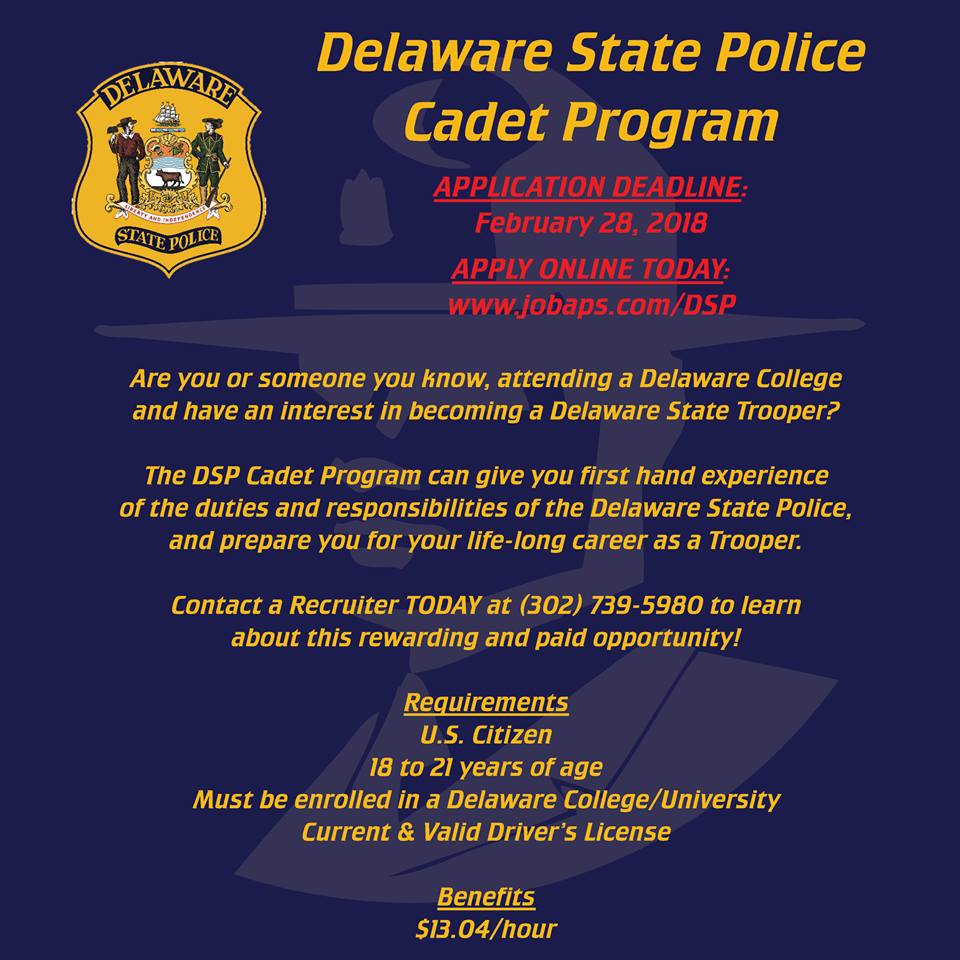 Applications Being Accepted for Position of Cadet Trooper