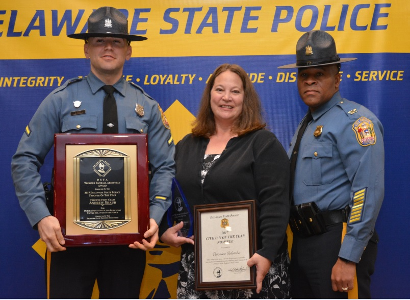 Delaware State Police Announce 2017 Trooper and Civilian
