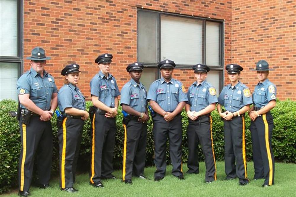 Picture of the Delaware Stare Trooper Explorers in uniform.