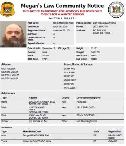 delaware state police sex offenders in Visalia