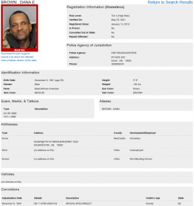 Wanted Sex Offender